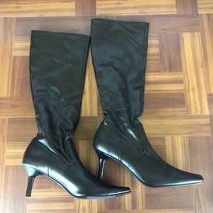 RAMPAGE TEENA Dark Brown Dress Knee High Boots